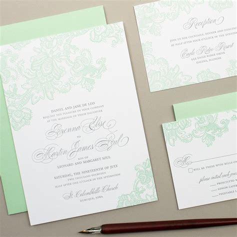 The 25  best Mint wedding invitations ideas on Pinterest