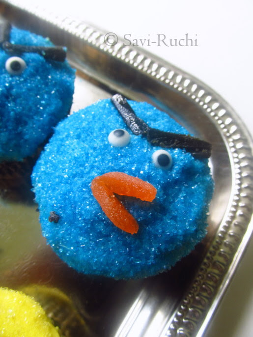 blue bird cupcakes