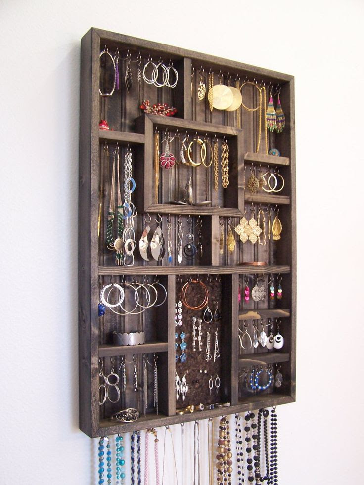 Bedroom Decor Jewelry Holder Organizer by barbwireandbarnwood, $128.00