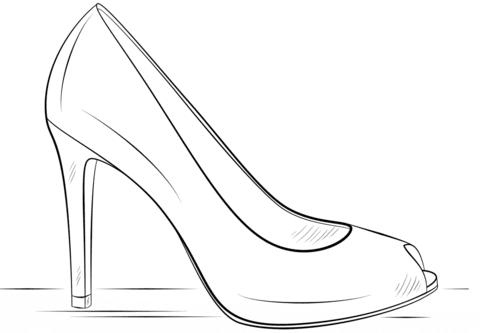 Scarpe Tacco Disegno Deadlikemeit