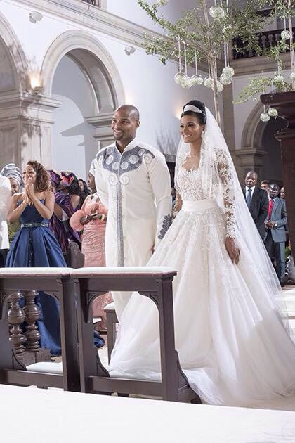 Umenyiora married his longtime girlfriend, Leila Lopes Friday May 29, 2015 in Luanda, Angola.