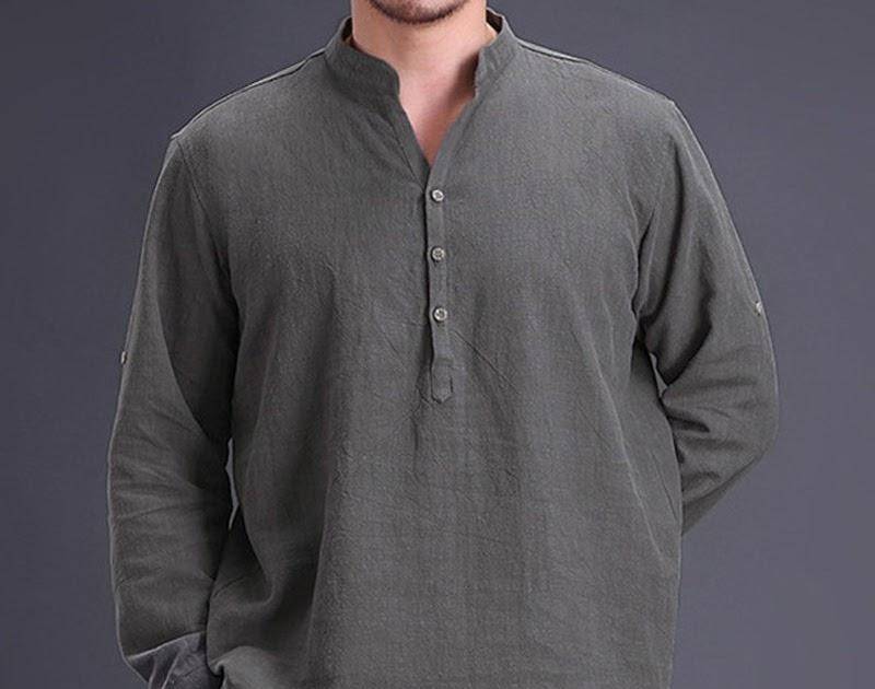 68f183cc1 Comprar Algodón Camisas De Lino Hombres Camisa Social Caballero Elegante  Manga Larga Suelta Tops Casual Shirt Homme Marca Ropa Online Baratos ~  lila-ybig794