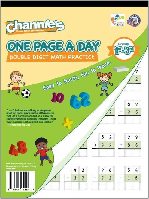 Channie's One Page A Day Double Digit Math Problem Workbook