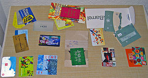 Assortment of gift cards