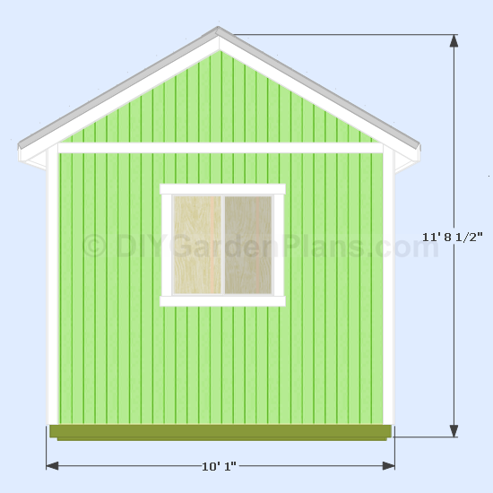 Gable access shed plans 9x12 for Gable barn plans