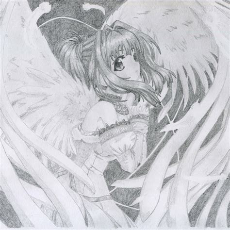 angel anime boy drawings  pencil