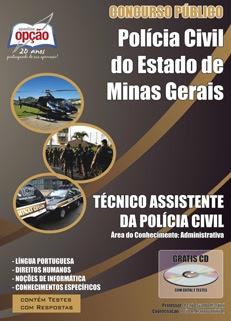 Polícia Civil de Minas Gerais-TÉCNICO ASSISTENTE DA POLÍCIA CIVIL- ÁREA ADMINISTRATIVA