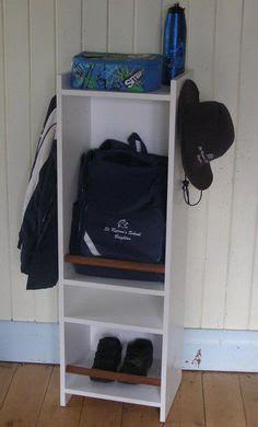 Storage ideas for school bags on Pinterest