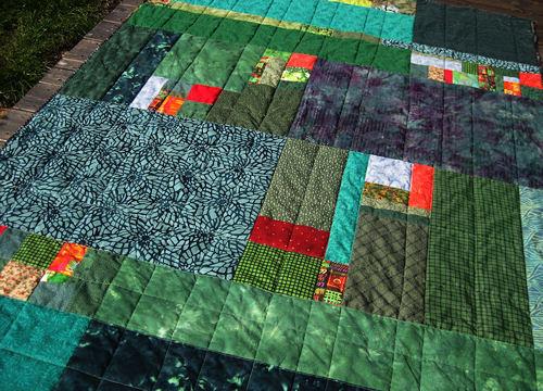 green quilt :: grønt teppe #4