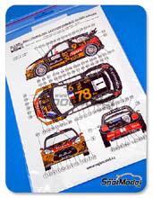 Calcas 1/24 Reji Model - Citroen DS3 WRC Total - Nº 1 - S. Loeb + D. Elena - Rally de Francia 2013 para kit de Heller 80757 y 80758