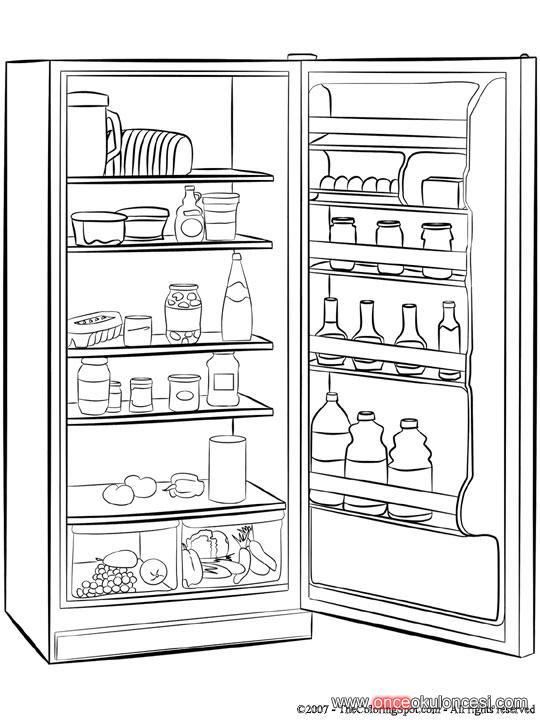 Buzdolabı Boyama Sayfaları Gazetesujin