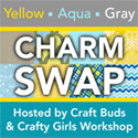 Yellow Aqua Gray Charm Swap