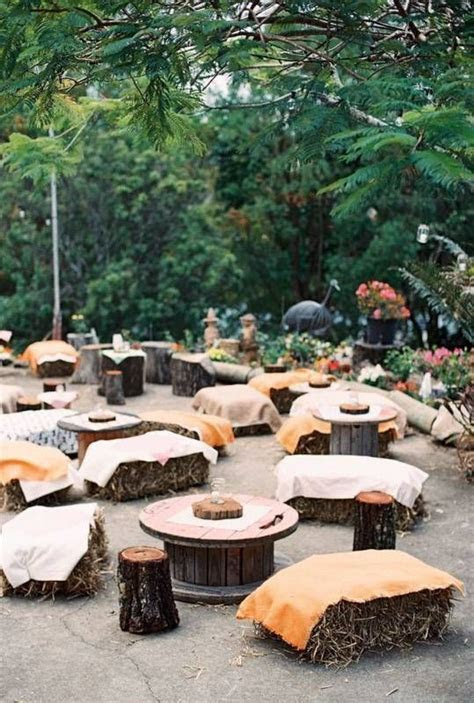 Best 25  Outdoor wedding seating ideas on Pinterest   Hay