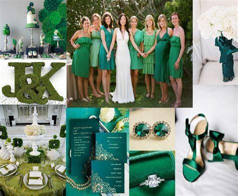 Wedding Ideas: Emerald Green and Black Wedding