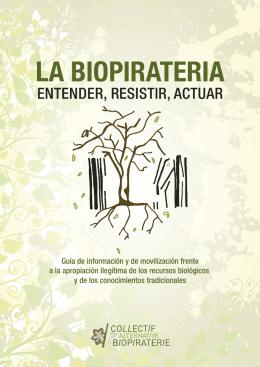 Resultat d'imatges de LA BIOPIRATERIA ENTENDER, RESISTIR, ACTUAR