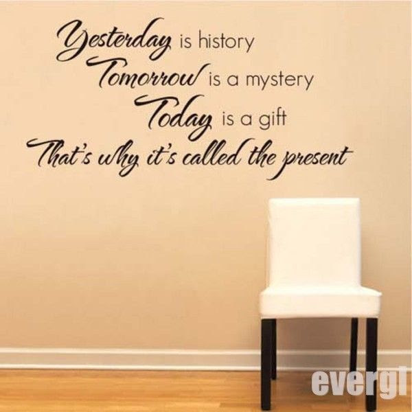 Buy Wall Sticker Quotes Yesterday Is History And Get Free Shipping