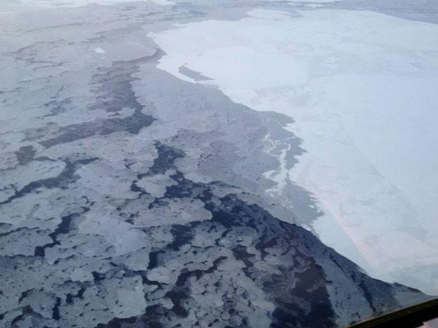 Degelo no Ártico (Foto: AP/NOAA/Divulgação)