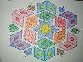 21 Pulli Kolam Design Step by step - 21 Dots Pulli Kolam - 21 புள்ளி கோலம்