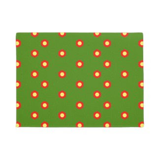 Fun and Full of Dots Design on Doormat