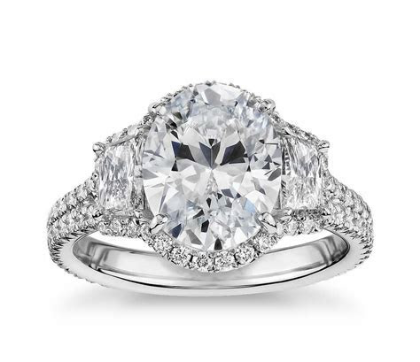 15 Gorgeous Oval Cut Engagement Rings   mywedding