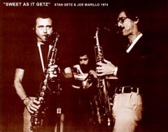 Joe with Stan Getz, 1974