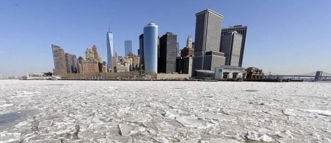 Nova York enfrenta um dos maiores períodos de frio da sua história  (Foto: AFP)