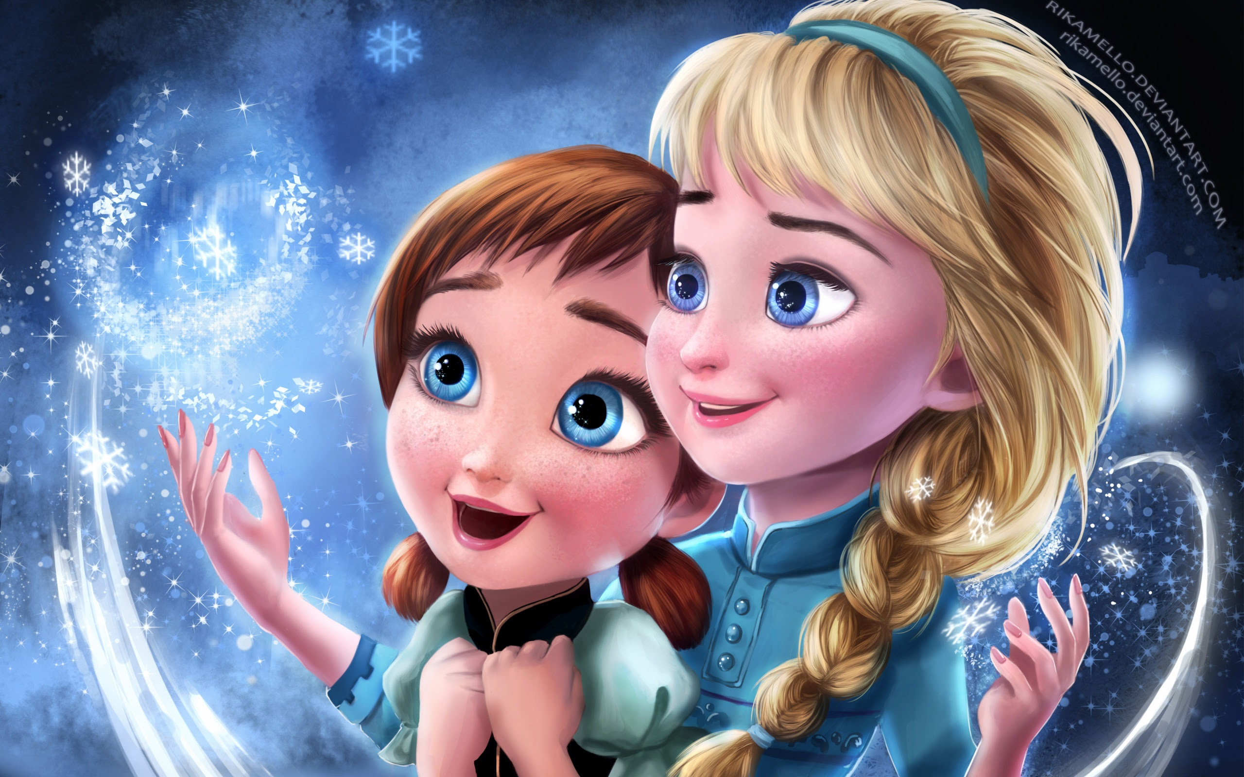 Frozen Elsa Anna Sisters Wallpapers In Jpg Format For Free Download