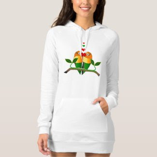 Love Bird Design on Hoodie Dress