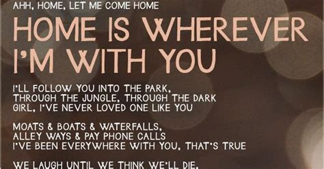 Home is Wherever I'm With You   Edward Sharpe and the