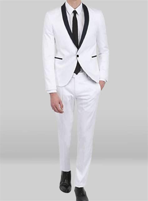 tuxedo suit white jacket white trouser