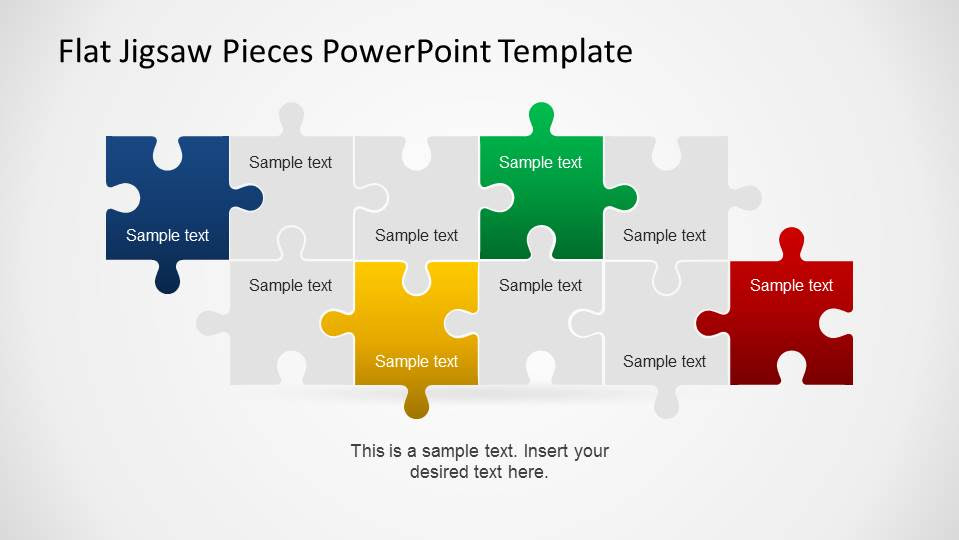 Editable Jigsaw Pieces PowerPoint Puzzle - SlideModel