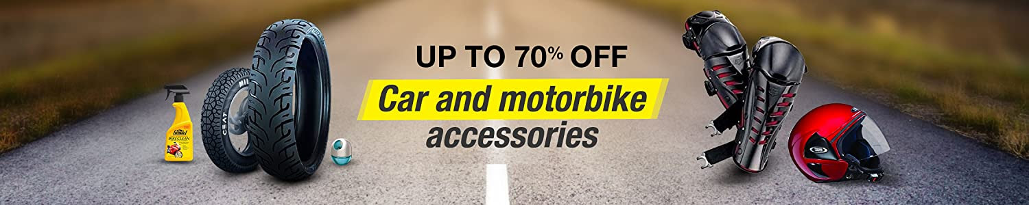 Up to 70% off car and bike accessories