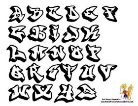 Huruf O Keren Grafiti