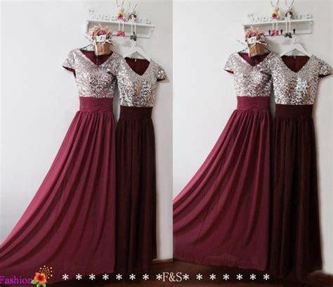 Burgundy Prom Dress,Sexy Prom Evening Formal Dress,Sequin