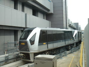 Exterior of CrystalMover Skytrain, Changi Airp...