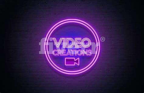 design  cool neon light logo design  maryjames