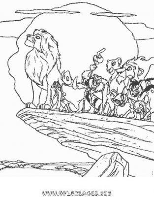 Coloriages Roi Lion Page 1 Roi Lion