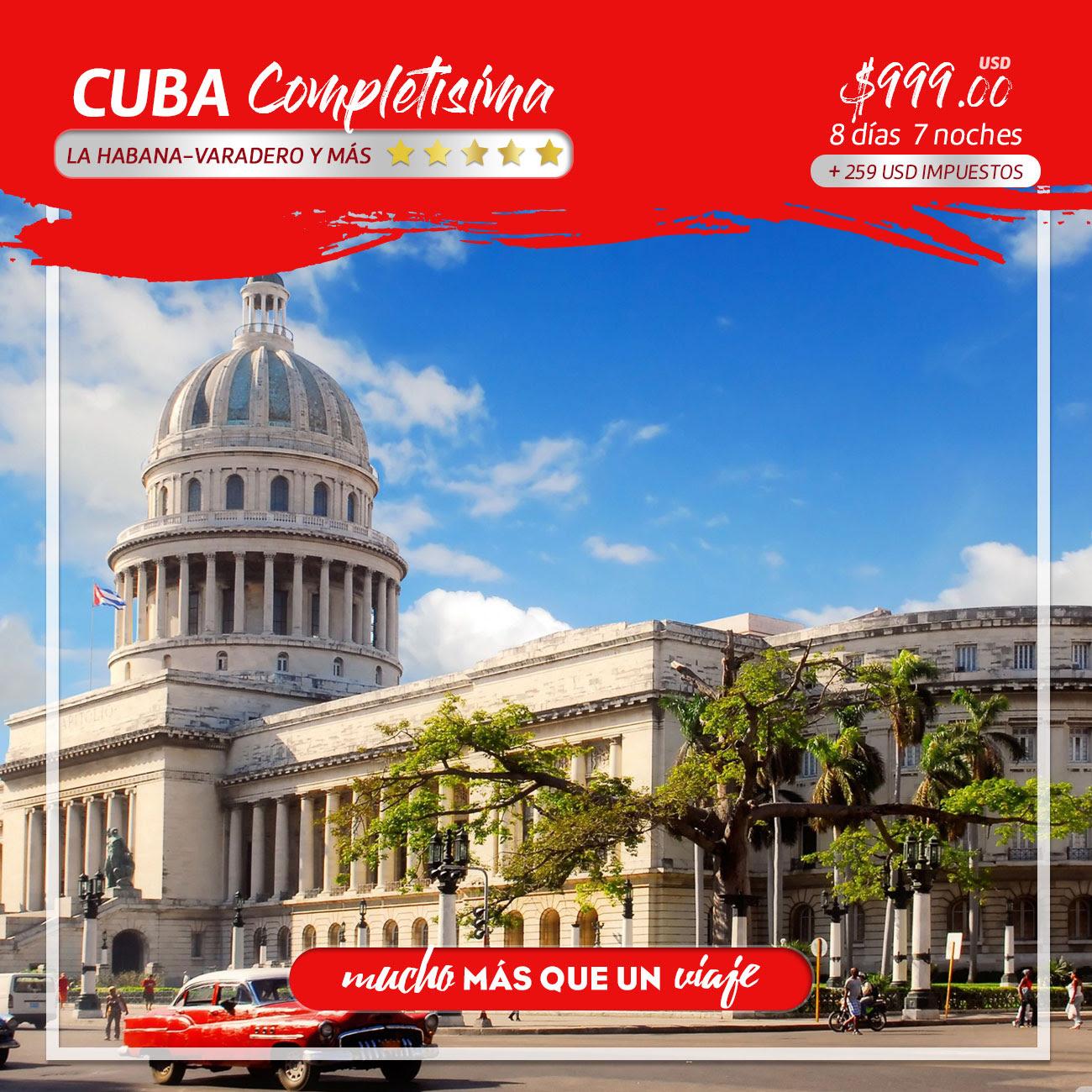 Disfruta de Cuba Completísima. Conócelo en un recorrido ...