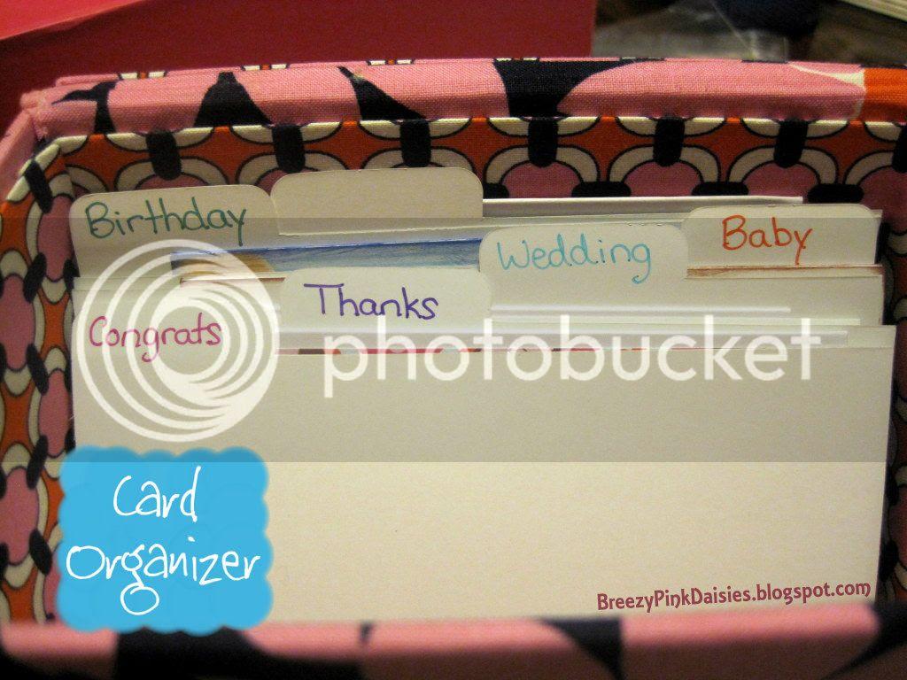 Card Box Organization - BreezyPinkDaisies