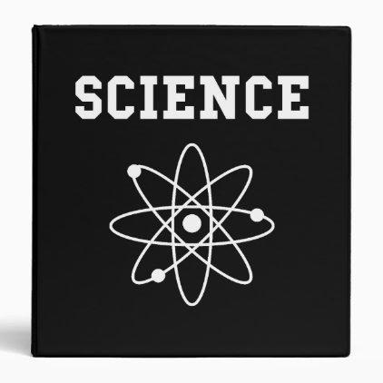 Science Atom 3 Ring Binder