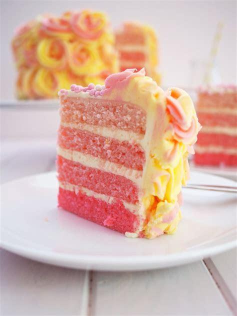 Pink Lemonade Ombre Cake Recipe