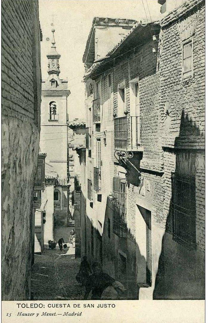 Iglesia de San Justo hacia 1900. Fotografía de Hauser y Menet