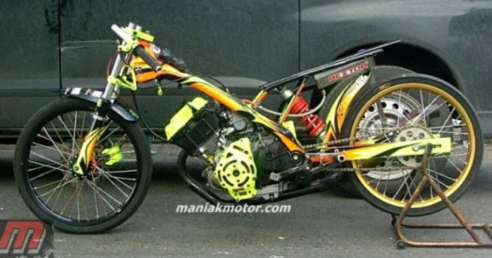 Modifikasi Satria Fu 200 Solo Drag Bike Volumetrik 200 Cc Lima