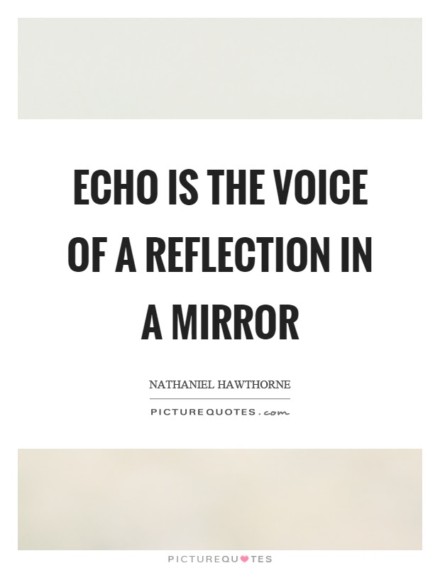 Echo Is The Voice Of A Reflection In A Mirror Picture Quotes