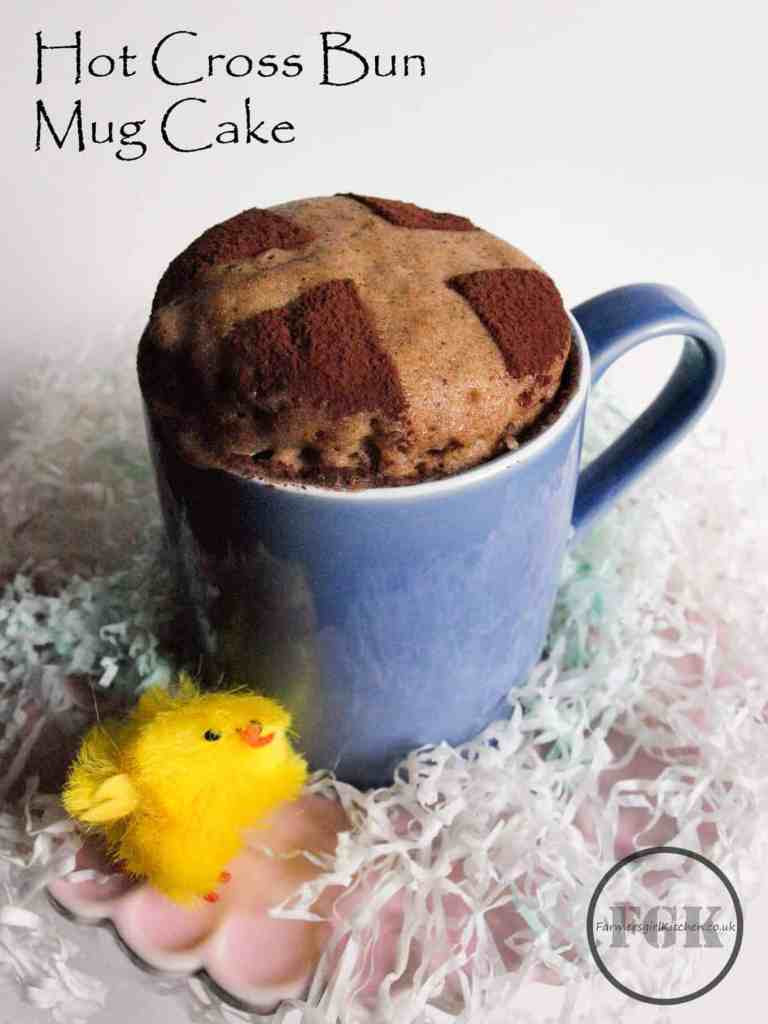 Hot Cross Bun Microwave Mug Cake, all the delicious flavours of a traditional Hot Cross Bun ready in minutes in your microwave