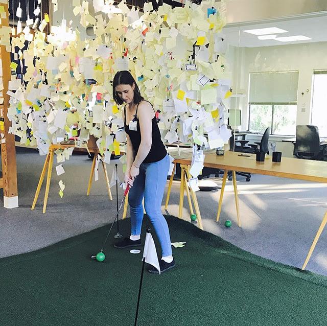 Indoor Google Golf Putting Green