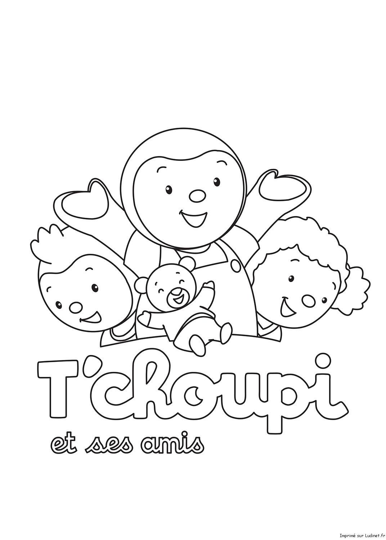 Image Coloriage tchoupi et doudou gratuit
