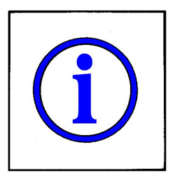 "Symbol for information-the letter ""i"" in a circle"