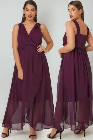 SCARLETT & JO Black 'Marilyn' Wrap Front Maxi Dress plus