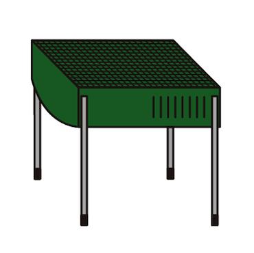 バーベキューコンロイラストアウトドア用品道具